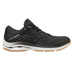 Mizuno Wave Rider 24 Womens Running Shoes Black/Gum US 6, Black/Gum, rebel_hi-res