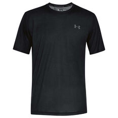 Under Armour Mens Threadborne Tee Black / Grey XS, Black / Grey, rebel_hi-res