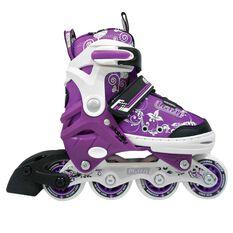 Crazy Skate Junior Adjustable Skates Purple S, Purple, rebel_hi-res