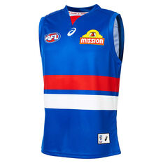 Western Bulldogs 2020 Mens Home Guernsey Blue S, Blue, rebel_hi-res