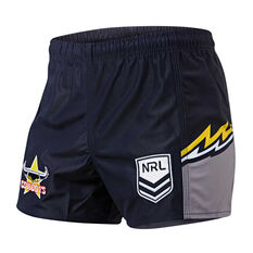 North Queensland Cowboys Mens Home Supporter Shorts Navy S, Navy, rebel_hi-res