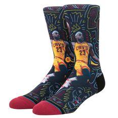 Stance Mens Cleveland Cavaliers LeBron James Sketchbook Sock, , rebel_hi-res