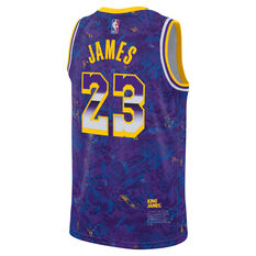 Nike Los Angeles Lakers LeBron James 2021 Mens MVP Select Jersey Blue S, Blue, rebel_hi-res