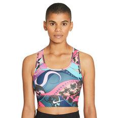 Nike Womens Swoosh Icon Clash Sports Bra, Blue, rebel_hi-res