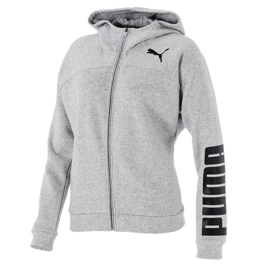 58cd9065fc7d Puma Womens Urban Sports Logo Hoodie Grey   Black XS Adult