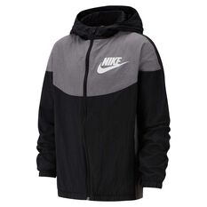 Nike Sportswear Boys Woven Jacket Black / Grey XS, Black / Grey, rebel_hi-res