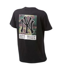 Majestic Mens Yankees Madison Tee Black S, Black, rebel_hi-res