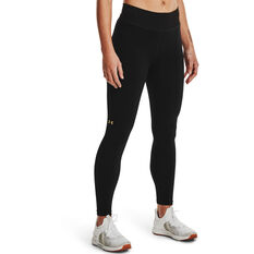 Under Armour Womens UA Rush Seamless Ankle Tights, Black, rebel_hi-res