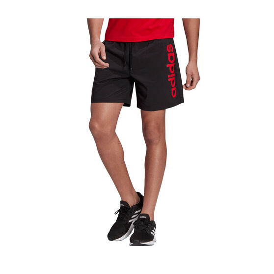 adidas Mens Essentials Linear Chelsea Shorts, Black, rebel_hi-res