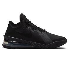 Nike LeBron 18 Low Zero Dark 23 Basketball Shoes Black US 7, Black, rebel_hi-res