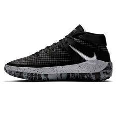 Nike KD13 Mens Basketball Shoes Black/White US 7, Black/White, rebel_hi-res