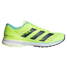 adidas Adizero Adios 5 Womens Running Shoes Yellow/Navy US 6, Yellow/Navy, rebel_hi-res