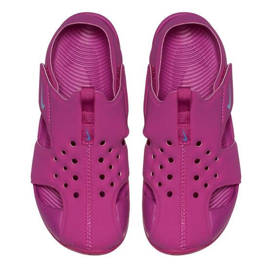 Nike Sunray Protect 2 Junior Kids Sandals, Fuschia, rebel_hi-res