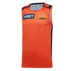 Perth Scorchers 2019/20 Mens Training Singlet Orange S, Orange, rebel_hi-res