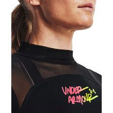 Under Armour Womens HeatGear Mock Neck Top, Black, rebel_hi-res