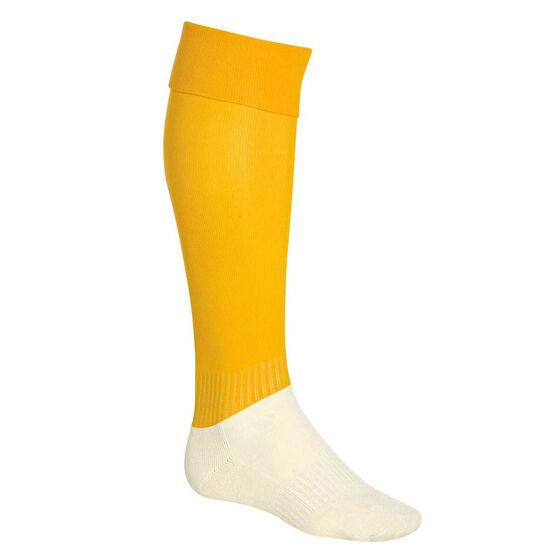 Burley Football Socks, Gold, rebel_hi-res
