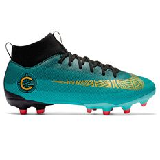 Nike Superfly 6 Academy CR7 MG Kids Football Boots Green / Gold US 1 Junior, Green / Gold, rebel_hi-res