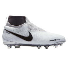 Nike Phantom Vision Elite Dynamic Fit Junior Football Boots White / Grey US 10, White / Grey, rebel_hi-res