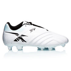XBlades Jet 4 Football Boots White/Silver US 7, White/Silver, rebel_hi-res