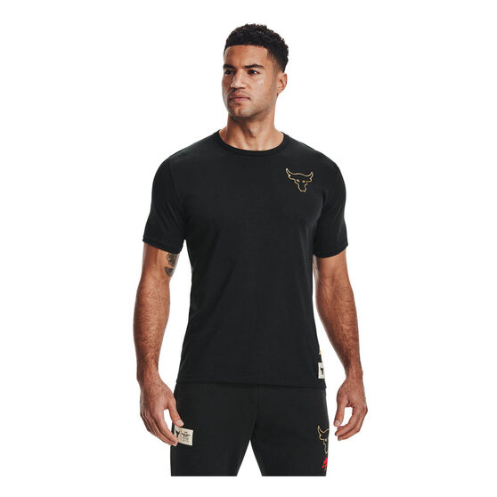 Under Armour Mens Project Rock Chinese New Year Tee, Black, rebel_hi-res
