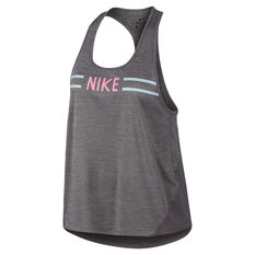 c50203cd5a2 Nike Womens Miler Hyper Femme Running Tank Grey XS, Grey, rebel_hi-res ...
