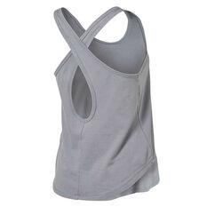 Under Armour Womens Pindot Open Back Tank Grey XS, Grey, rebel_hi-res