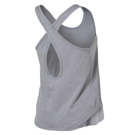 Under Armour Womens Pindot Open Back Tank, Grey, rebel_hi-res