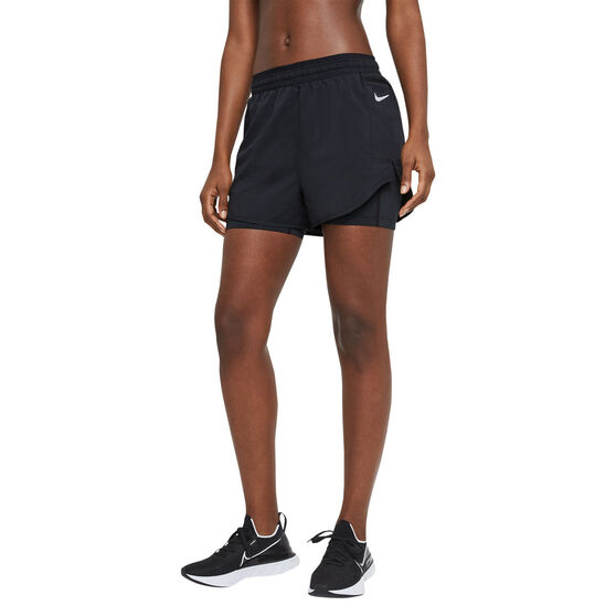 Nike Womens Tempo Luxe 2 In 1 Running Shorts, Black, rebel_hi-res
