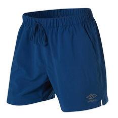 Umbro Mens 5in Staple Training Shorts Blue S, Blue, rebel_hi-res