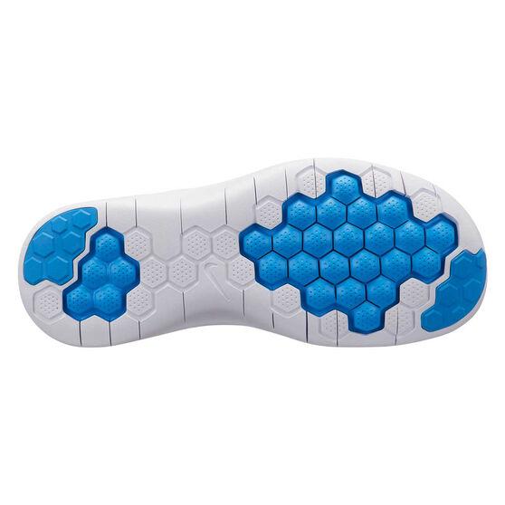 Nike Flex RN 2018 Kids Running Shoes Blue / White US 5, Blue / White, rebel_hi-res