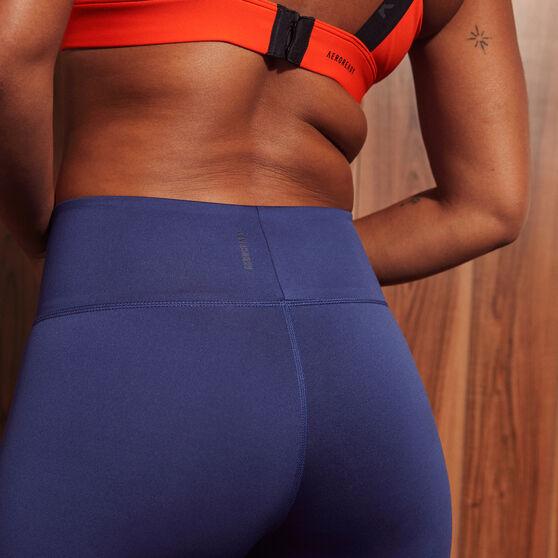 adidas Karlie Kloss Womens High Waisted Tights, Navy, rebel_hi-res