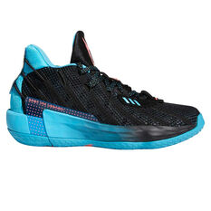 adidas Dame 7 Kids Basketball Shoes Black/Red US 4, Black/Red, rebel_hi-res