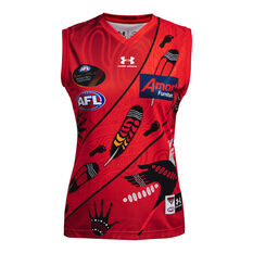 Essendon Bombers Womens 2021 Indigenous Guernsey Red XS, Red, rebel_hi-res
