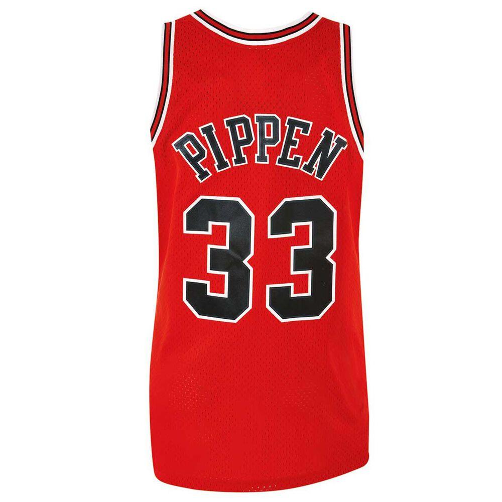 4c7911f4459 Chicago Bulls Scottie Pippen Mens Road Swingman Jersey S, , rebel_hi-res