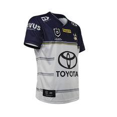 North Queensland Cowboys 2021 Kids Away Jersey, White, rebel_hi-res