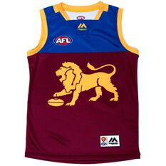 Brisbane Lions 2019 Youth's Replica Home Guernsey Maroon / Navy / Gold 8, Maroon / Navy / Gold, rebel_hi-res