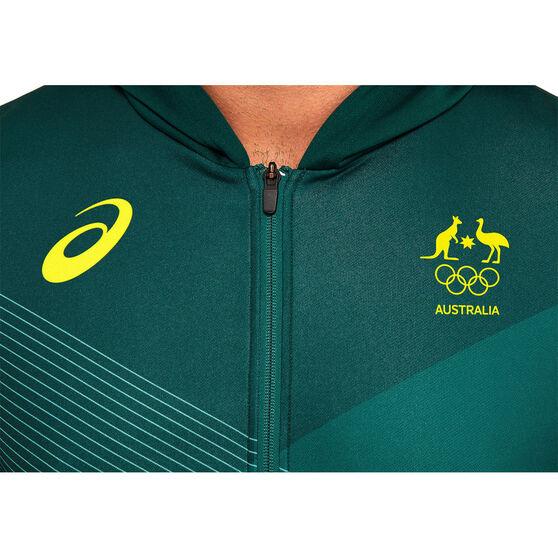 Asics Mens Australian Olympic Village Hoodie, Green, rebel_hi-res