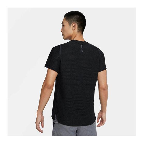 Nike Mens Pro Short Sleeve Tee, Black, rebel_hi-res