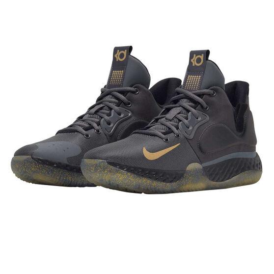 Nike KD Trey 5 VII Mens Basketball Shoes, Grey / Gold, rebel_hi-res