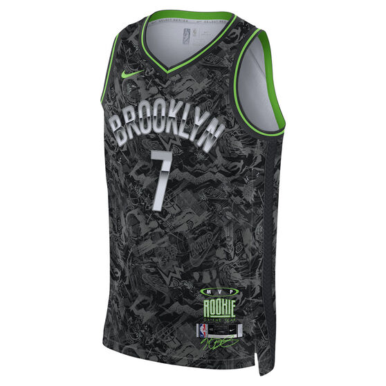 Nike Brooklyn Nets Kevin Durant 2021 Mens MVP Select Jersey, Black, rebel_hi-res