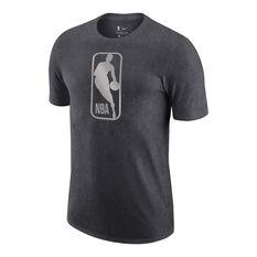 NBA Mens Logo Tee Grey XS, Grey, rebel_hi-res