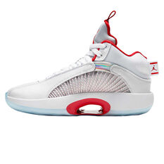 Jordan 35 Kids Basketball Shoes White US 4, White, rebel_hi-res