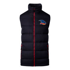 Adelaide Crows 2020 Mens Down Vest Black S, Black, rebel_hi-res