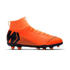 Nike Mercurial Superfly VI Club MG Kids Football Boots Orange / White US 1 Junior, Orange / White, rebel_hi-res