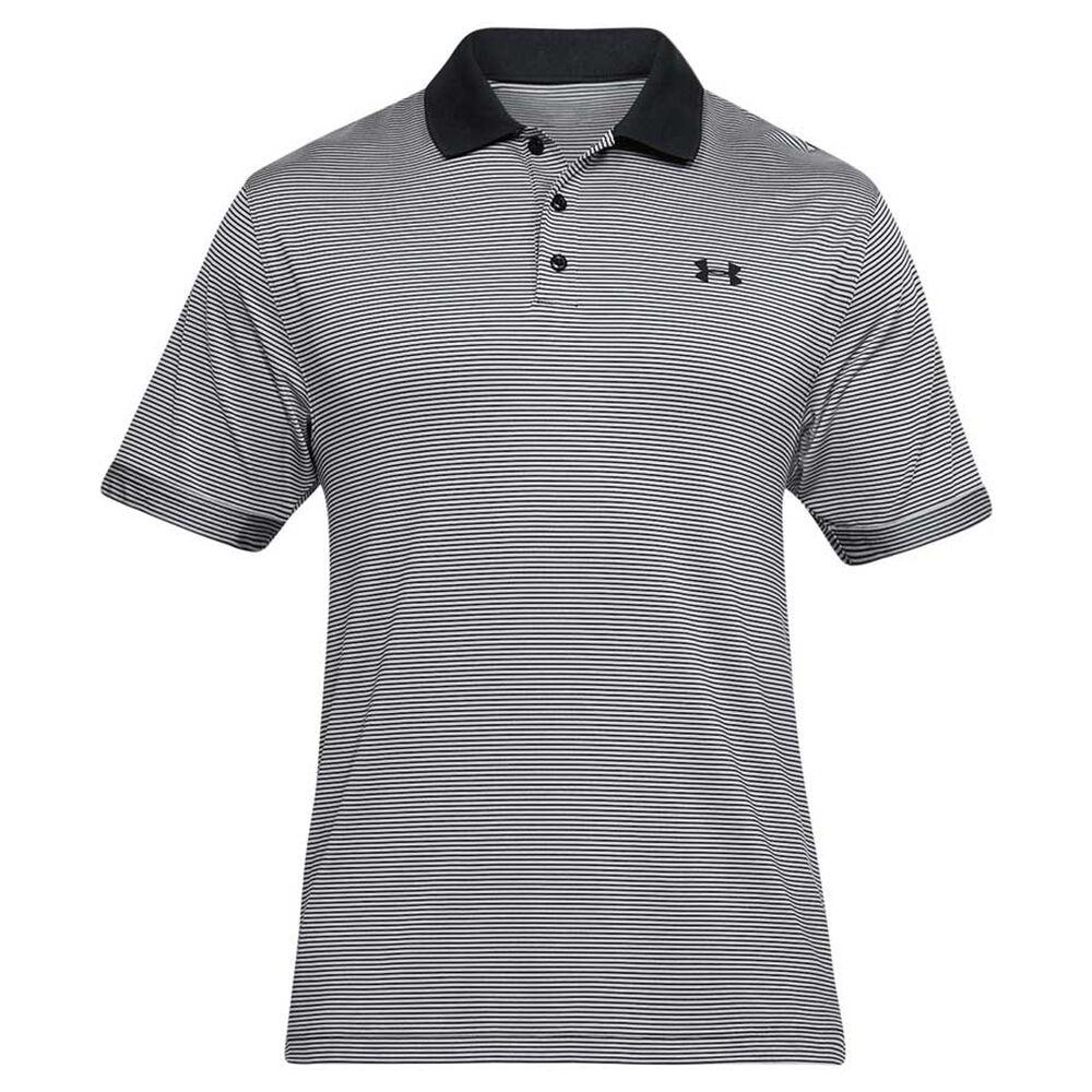 68f47264 Under Armour Mens Performance Novelty Polo Shirt Black M, Black,  rebel_hi-res