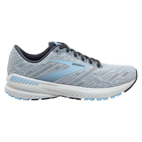 Brooks Ravenna 11 Womens Running Shoes, Grey/Blue, rebel_hi-res