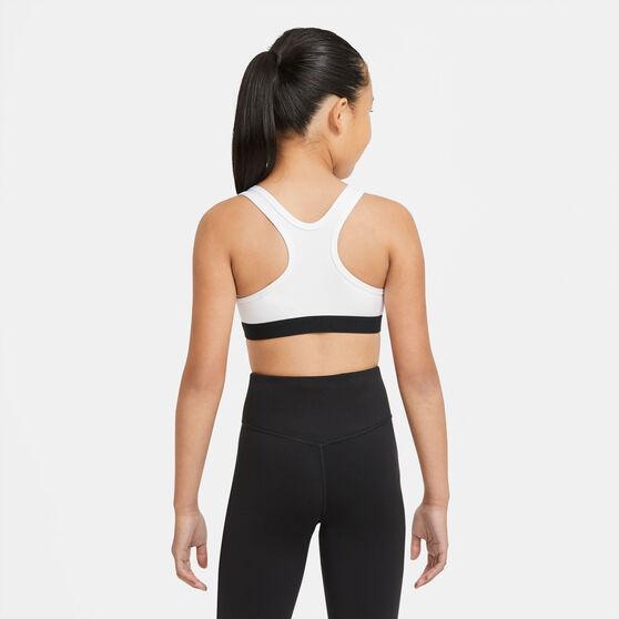 Nike Girls Swoosh Sports Bra, White, rebel_hi-res