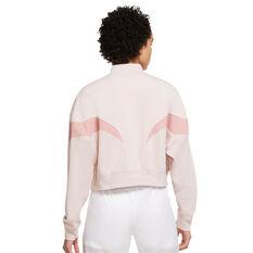 Nike Air Womens Mock Fleece Sweatshirt Pink XS, Pink, rebel_hi-res