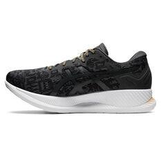 Asics Glideride EDO Era Mens Running Shoes Black/Grey US 7, Black/Grey, rebel_hi-res