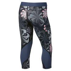 Nike Girls Pro Capri Tights Grey / Pink XS, Grey / Pink, rebel_hi-res